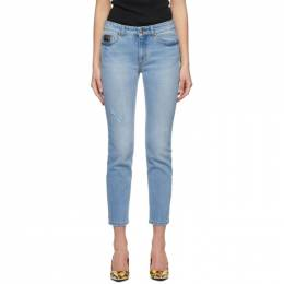 Versace Jeans Couture Blue Faded Slim Jeans EA1HWA0S4EAR884