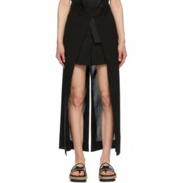 Sacai Black Open Face Suiting Trouser Shorts 21-05532