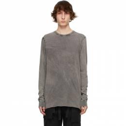 11 By Boris Bidjan Saberi Grey Acid LS1B Long Sleeve T-Shirt 1074-11-LS1B