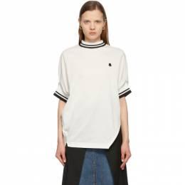 Sacai White Pique Pullover T-Shirt 21-05559