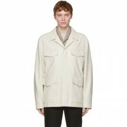 System Off-White Faux-Leather Jacket SH2B1WJMT02M
