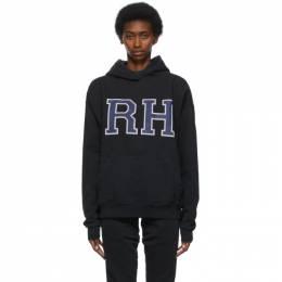 Rhude Black Fluer Market Hoodie RHPS21HO00000002