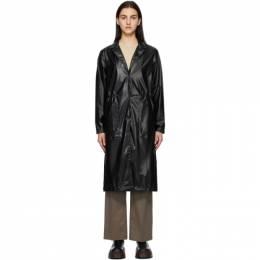 Rains Black String Overcoat 1835