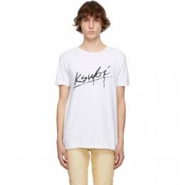 Ksubi White Drip Seeing Lines T-Shirt 5000005783