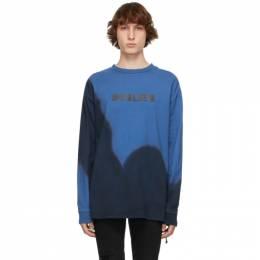 Ksubi Blue Eterno Dye Long Sleeve T-Shirt 5000005691