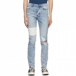 Ksubi Blue Paneled Chitch Jeans 5000005518
