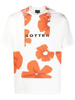 Botter футболка с цветочным принтом и логотипом 3013J002