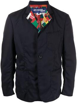 Junya Watanabe Man пиджак с принтом на лацканах WGJ016