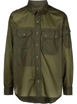 Engineered Garments рубашка Field с нагрудными карманами 21S1D016