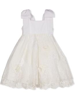 Lapin House платье с цветочной вышивкой и кружевом 211E3125