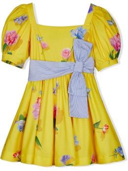Lapin House платье с цветочным принтом и квадратным вырезом 211E3186