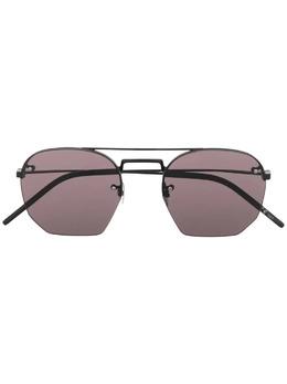 Saint Laurent Eyewear солнцезащитные очки-авиаторы с затемненными линзами 652334Y9902