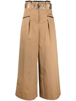 Self-Portrait широкие брюки с завышенной талией SS21015T