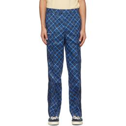 Wales Bonner Blue adidas Edition Tartan Track Pants WB TARTAN TP
