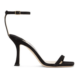 Jimmy Choo Black Suede Marin 90 Heeled Sandals MARIN 90 SUE