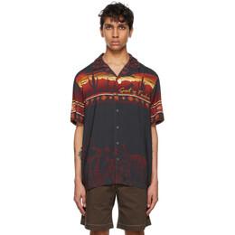 Phipps Black and Red Desert Bowling Shirt PHSS21 S11 U000