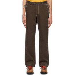 Phipps Brown Cotton Twill Dad Trousers PHSS21 P22 C003