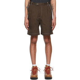 Phipps Brown Cotton Twill Dad Shorts PHSS21 PS22 C003