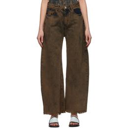 Marques Almeida Khaki Boyfriend Jeans SS21TR0014DND