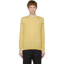 Loro Piana Yellow Wish Wool T-Shirt Sweater FAI1916