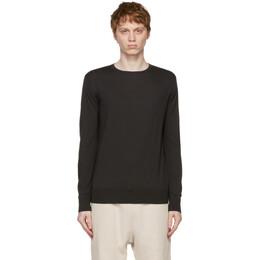 Loro Piana Black Wish Wool T-Shirt Sweater FAI1916
