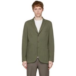 Loro Piana Green Silk Sweater Blazer FAE8388