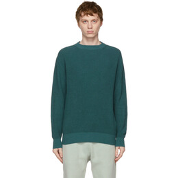 Loro Piana Blue Flax and Silk Prescott Roundneck Sweater FAL5703