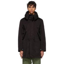Ten C Black The Parka Coat 13CTCUK04030 002105