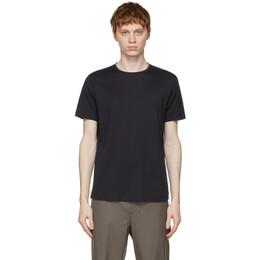 Loro Piana Navy Soft Silk Cotton T-Shirt FAF6128