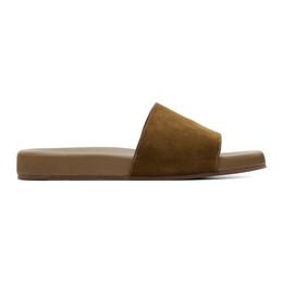 Loro Piana Tan Sea-Slide Walk Sandals FAI4870