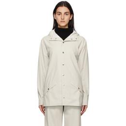 Rains Off-White Hooded Jacket 1201