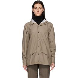 Rains Taupe Hooded Jacket 1201