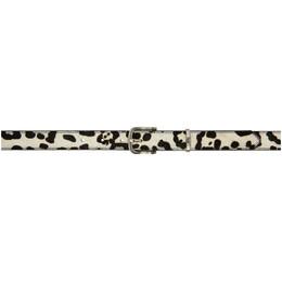 Stussy White Pony Hair Dress Belt 135176