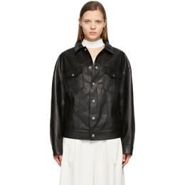 System Black Faux-Leather Jacket SH2B1WJMT03M