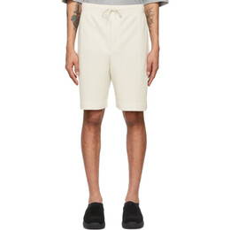 Homme Plisse Issey Miyake Off-White Drawstring Pleats Shorts HP16JF133