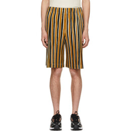 Homme Plisse Issey Miyake Orange Tailored Line Shorts HP16JF202