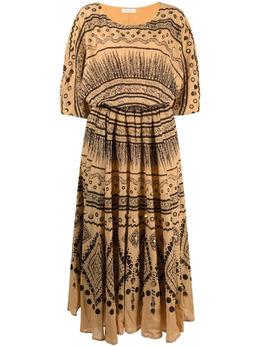 Mes Demoiselles драпированное платье миди с графичным узором 21SMMDKW00001