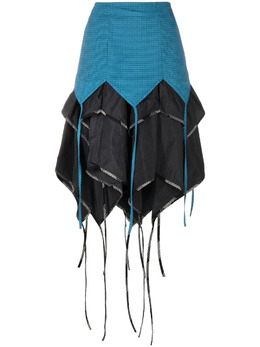 Kiko Kostadinov многослойная юбка миди асимметричного кроя KKWSS21SK01