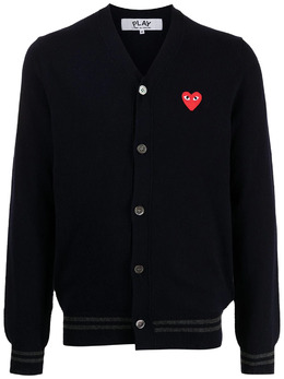 Comme Des Garcons Play кардиган с нашивкой AZN0160512