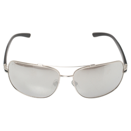 Bvlgari Silver Tone/Grey Mirrored 5038 Navigator Sunglasses 408747