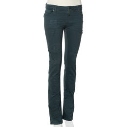 Zadig & Voltaire Green Denim Distressed patch Detail Jeans S 408127