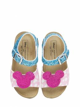 Glittered Mickey Faux Leather Sandals Moa Master Of Arts 73IXLC033-TVVMVElDT0xPUg2