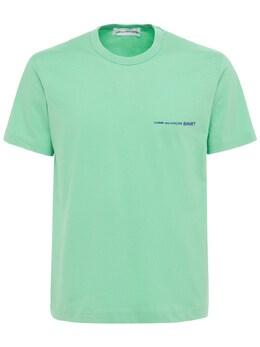 Футболка Из Хлопкового Джерси С Принтом Comme Des Garcons Shirt 73IJRN015-MQ2