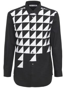 Рубашка Из Хлопка Поплин С Принтом Comme Des Garcons Shirt 73IJRN004-MQ2