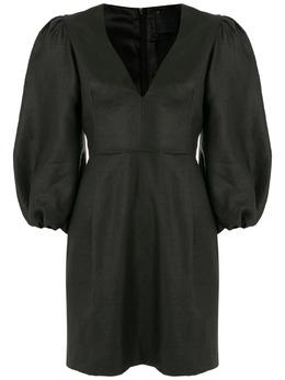 Andrea Bogosian платье Suzi Couture с пушными рукавами 009027