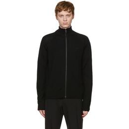 A-Cold-Wall* Black Merino Zip-Up Sweater ACWMK020