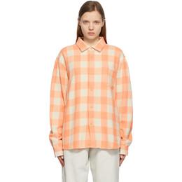 Stussy Pink Plaid Peach Shirt 1110155