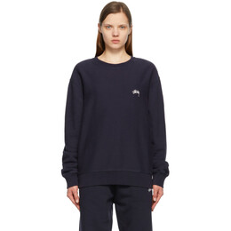 Stussy Navy Stock Logo Sweatshirt 118416
