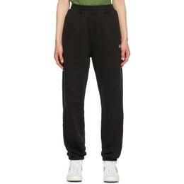 Stussy Black Stock Logo Lounge Pants 116481