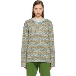Stussy Blue Giza Long Sleeve T-Shirt 1140245